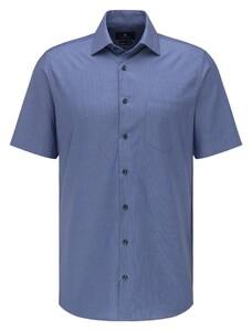 Pierre Cardin Short Sleeve Easy Care Overhemd Navy