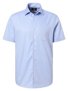 Pierre Cardin Short Sleeve Easy Care Shirt Blue