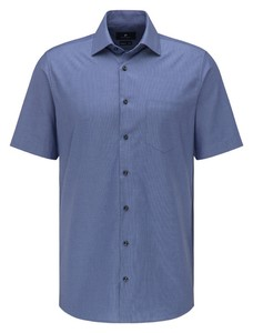 Pierre Cardin Short Sleeve Easy Care Shirt Navy