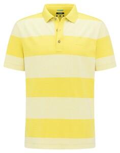 Pierre Cardin Silky Cotton Blockstripe Organic Cotton Polo Flash Yellow