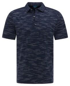 Pierre Cardin Silky Cotton Multi Fine Stripe Polo Navy