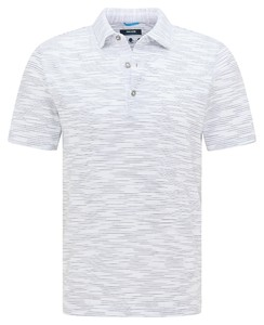 Pierre Cardin Silky Cotton Multi Fine Stripe Polo Wit