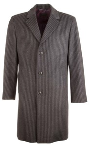 Pierre Cardin Stripe Coat Coat Anthracite Grey