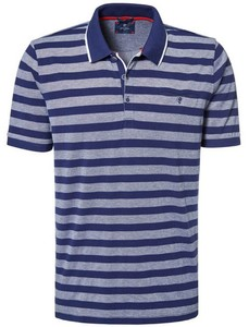 Pierre Cardin Striped Airtouch Pique Polo Marine