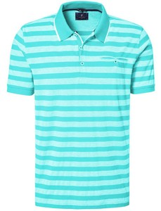 Pierre Cardin Striped Airtouch Pique Polo Turquoise