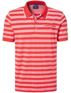 Pierre Cardin Striped Airtouch Pique Polo Vuurrood