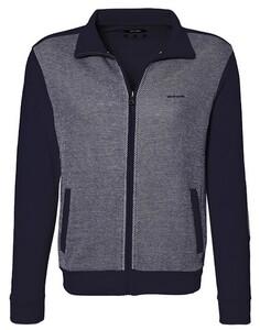Pierre Cardin Sweatjacket Diagonal Stripe Vest Navy