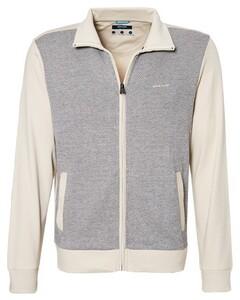 Pierre Cardin Sweatjacket Diagonal Stripe Vest White Sand