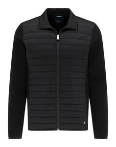 Pierre Cardin Sweatjacket Futureflex Performance Interlock Vest Zwart