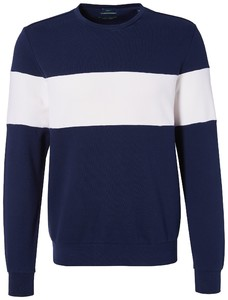Pierre Cardin Sweatshirt French Terry Denim Academy Trui Navy Blue Melange