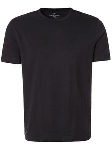 Pierre Cardin T-Shirt Ronde Hals 2Pack T-Shirt Zwart