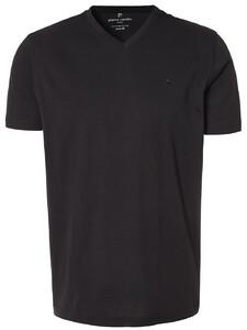 Pierre Cardin T-Shirt V-Neck 2Pack T-Shirt Zwart