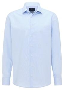 Pierre Cardin Uni Fine Structure Kent Shirt Light Blue