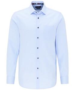 Pierre Cardin Uni Fine Structure Overhemd Licht Blauw