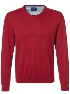 Pierre Cardin V-Neck Royal Blend Trui Rood