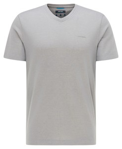 Pierre Cardin V-Neck Uni Jersey Tencel T-Shirt Grey