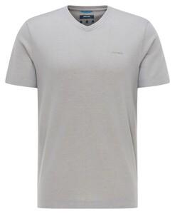 Pierre Cardin V-Neck Uni Jersey Tencel T-Shirt Grijs