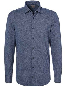 Pierre Cardin Voyage Faux Uni Overhemd Blauw