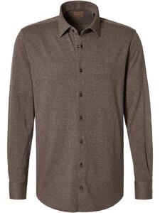 Pierre Cardin Voyage Faux Uni Shirt Brown