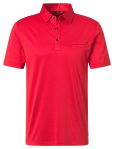 Pierre Cardin Voyage Uni Polo Comfort Stretch Polo Hot Red