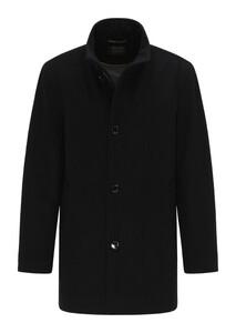 Pierre Cardin Voyage Wool Material Mix Jas Zwart