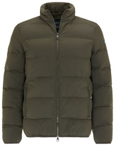 Pierre Cardin Warm Zip Collar Uni Jack Olive Brown