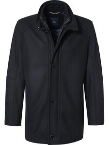 Pierre Cardin Wool Coat Jas Donkergrijs-Zwart