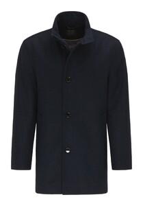 Pierre Cardin Wool Material Mix Voyage Fine Diagonal Stripe Jas Navy