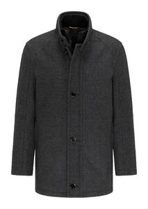 Pierre Cardin Wool Material Mix Voyage Structure Coat Grey Melange