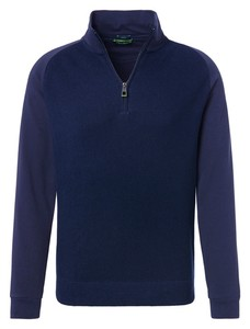 Pierre Cardin Zipper Sweat Denim Academy Trui Navy Blue Melange
