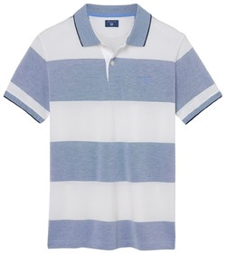 Gant Oxford Polo met 4 Color Stripe Lavendel Blauw