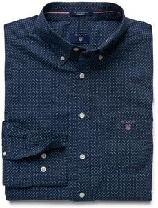 Gant The Printed Broadcloth Dot Yale Blue