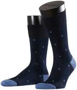 Falke Dotted Socks Dark Navy Melange