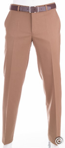 MENS Madrid Dunne Wollen Pantalon Camel