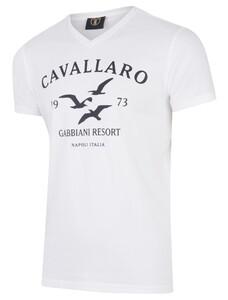 Cavallaro Napoli Gabbiani Tee Navy