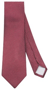 Jacques Britt Micro Dotted Tie Rood