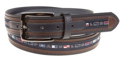 Paul & Shark Multistitch Flag Belt Navy
