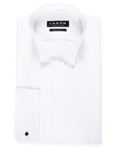 Ledûb Modern-Fit Smoking Shirt Wit