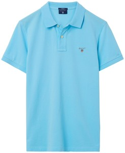 Gant Gant Piqué Polo Topaas Blauw