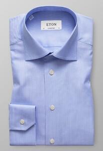 Eton Textured Twill Pastel Blauw
