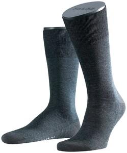 Falke No. 6 Socks Finest Merino and Silk Anthracite Grey