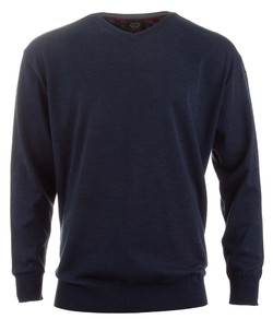 Paul & Shark Three in One Wool V-Neck Rafblauw
