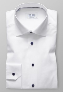 Eton Faux Uni Fine Stretch Wit