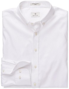 Gant Diamond G Pinpoint Oxford Fitted Wit
