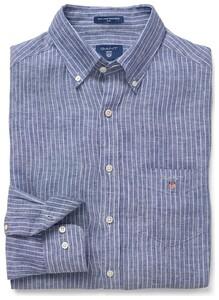 Gant The Linen Pinstripe Yale Blue