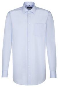 Seidensticker Sleeve 7 Uni Comfort Sky Blue Melange
