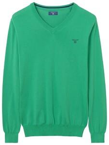 Gant Summer Cotton V-Neck Jelly Green