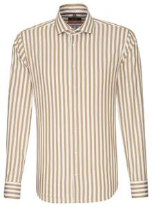 Seidensticker Striped Spread Kent Bruin Melange