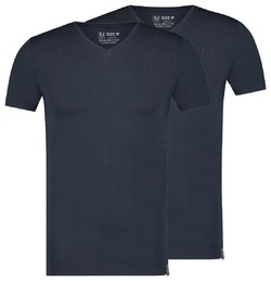 RJ Bodywear 2Pack Good Life Atthens V-Hals Ondermode Donker Blauw