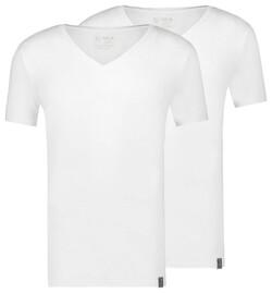 RJ Bodywear 2Pack Good Life Madrid Diepe V-Hals Ondermode Wit